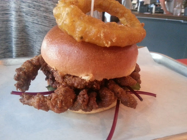 Soft Shell Crab burger at Psychic Burger
