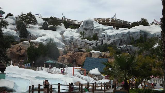 the slides at Blizzard Beach