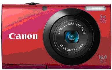 Canon PowerShot A3400 IS Red Color