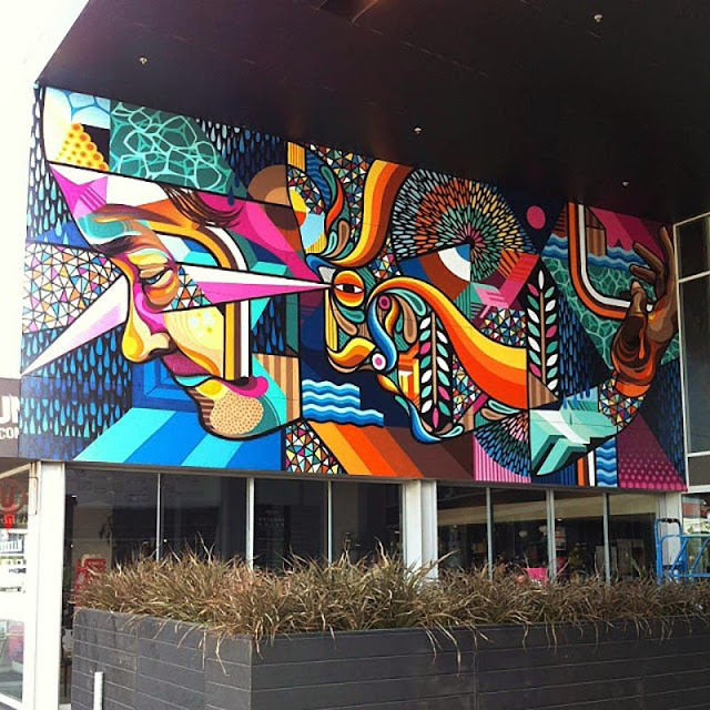 New Street Art Mural By Beastman And Vans The Omega On The Streets Of Christchurch in New Zealand. 2