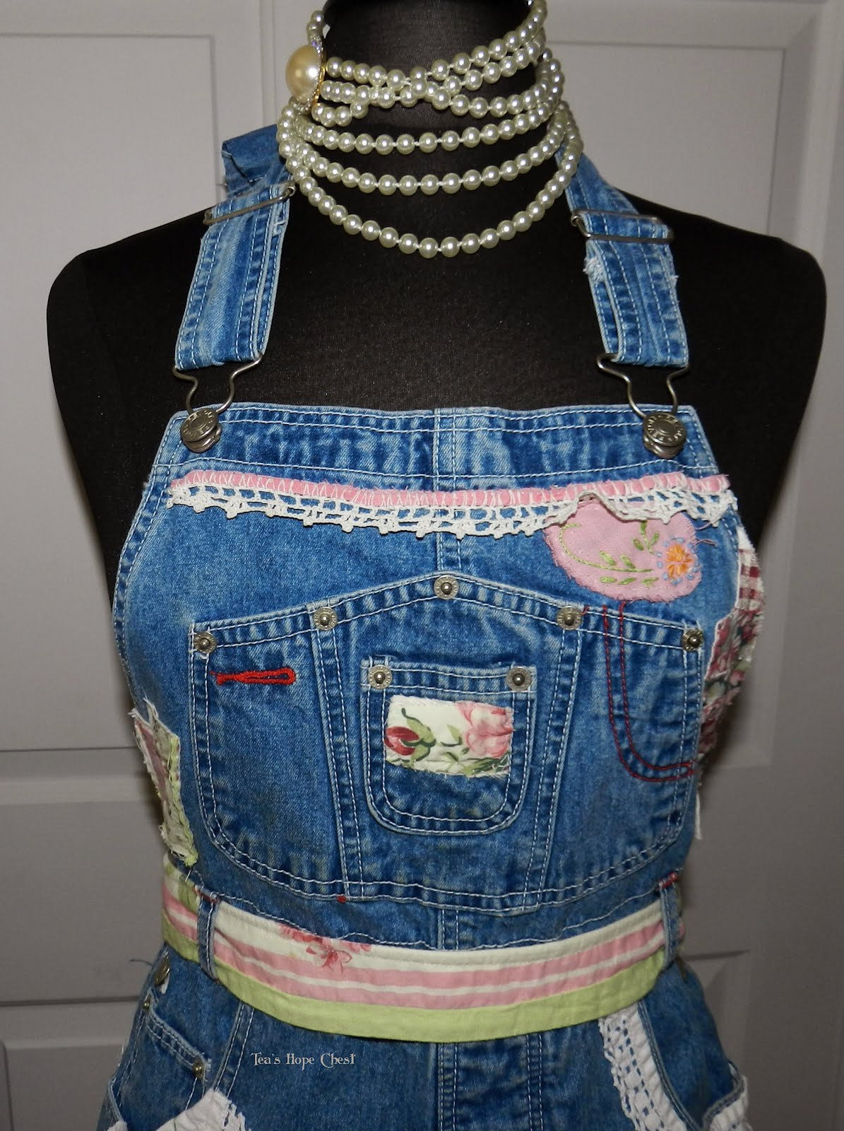 Blue apron how to recycle - Recycled Bib Blue Jeans Craft Apron