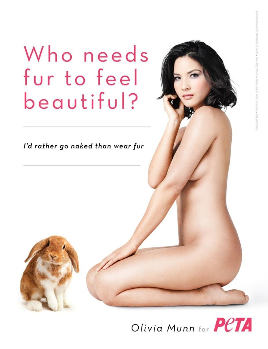 Olivia Munn unveils nude PETA