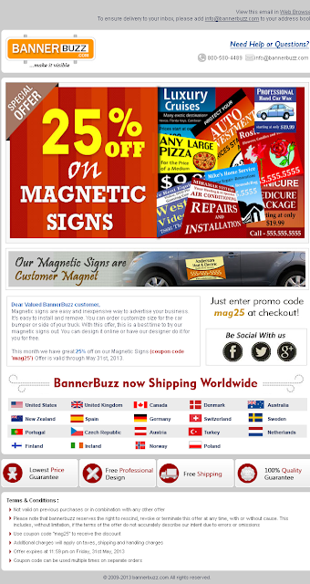 Exclusive 25% OFF on Custom Magnetic Signs
