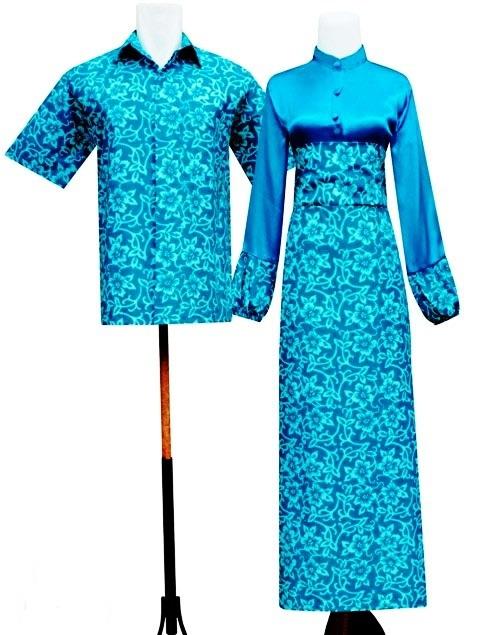 Gamis Batik Pasangan Sarimbit Motif Sekar Batik Sarimbit