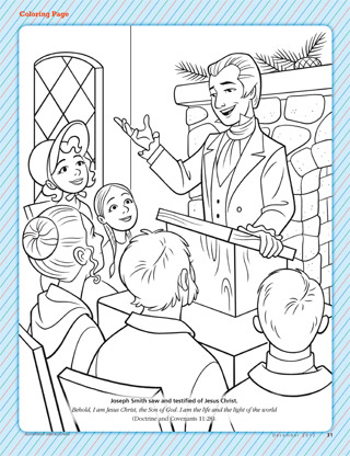 Happy Clean Living Primary 3 Lesson 6 Lds Primary Joseph Smith Coloring Pictures
