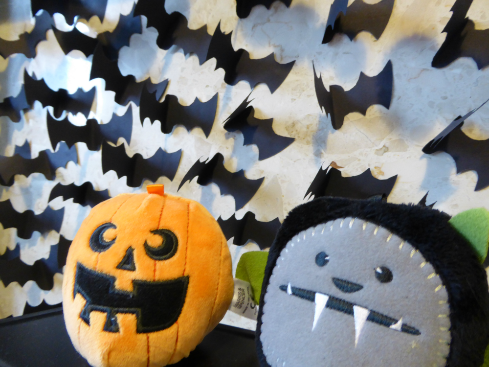 Baby Halloween party: flock of paper bats