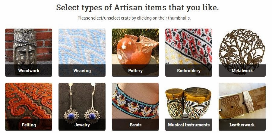 Please select types of Artisan items that you like.
