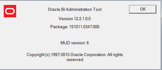 obiee 12c client administration tool importing oci connectivity tables etc obiee administration