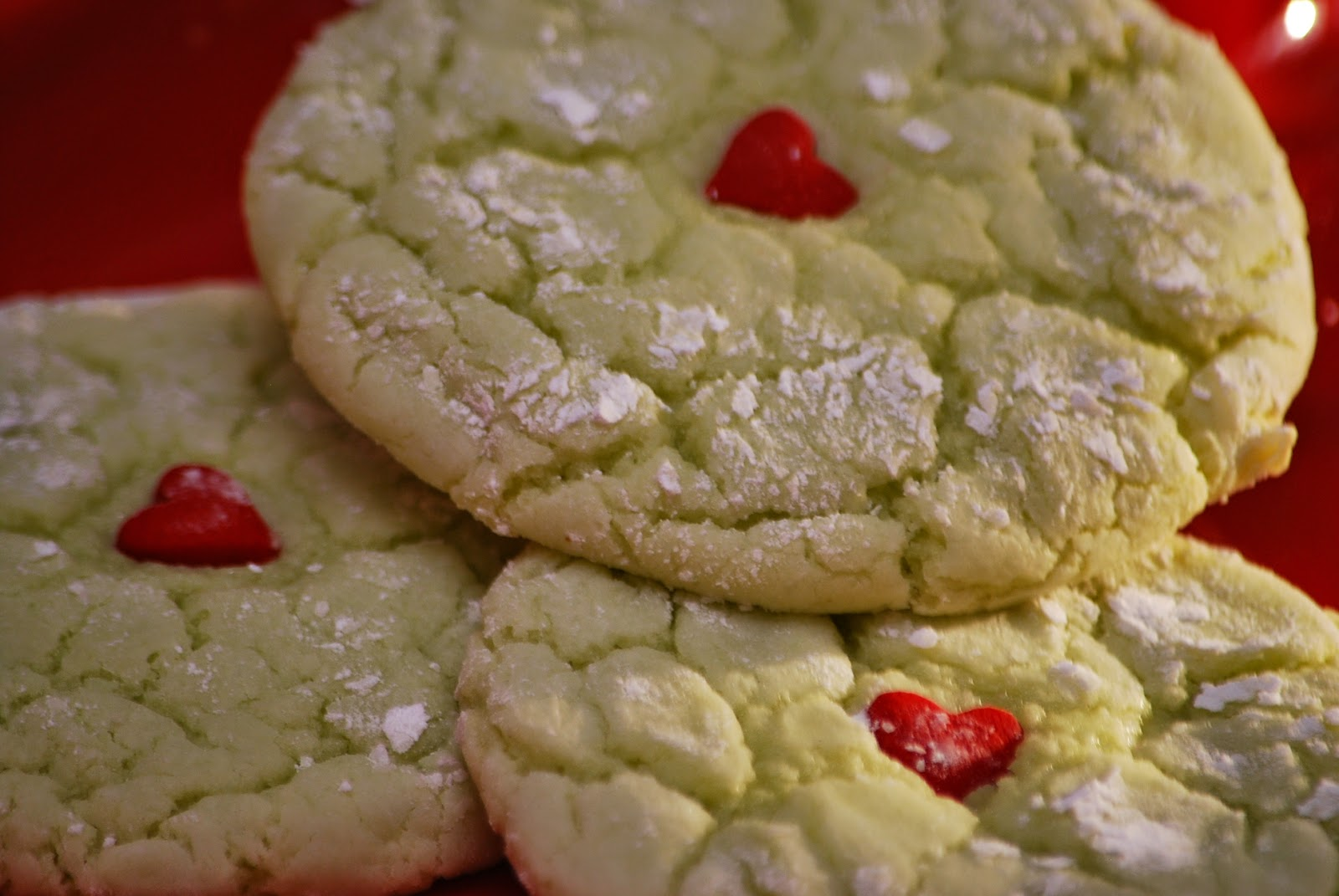 My Story In Recipes Grinch Cookies