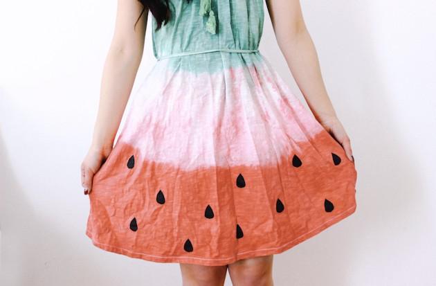 DIY vestido estampado sandía