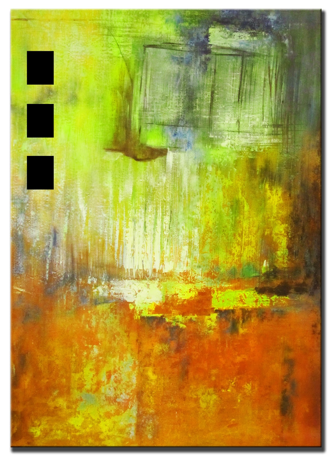 Original Abstract Painting Sunrise