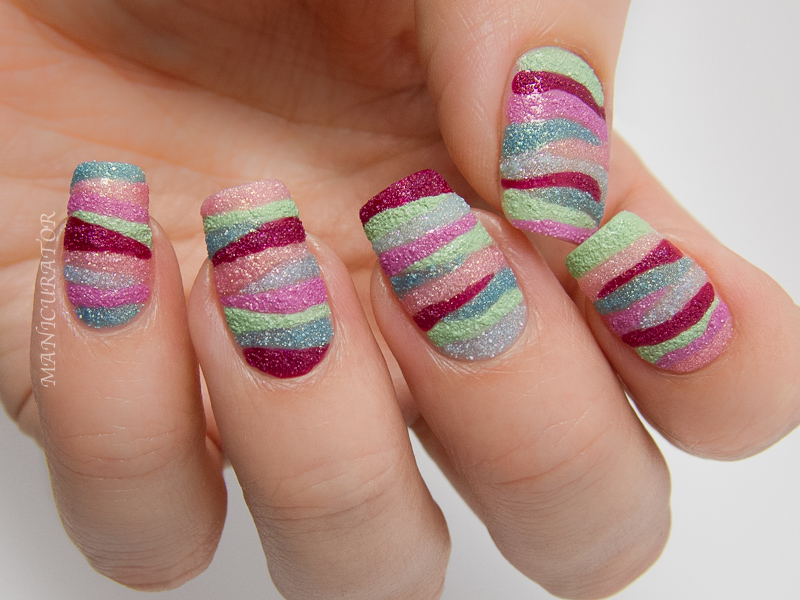 manicurator: Sally Hansen Sugar Shimmer Review - Freehand Nail Art