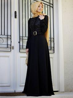 Busana muslim wanita model dress cantik masa kini