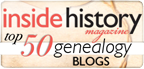 Included in Inside History's list of best genealogy blogs in 2014