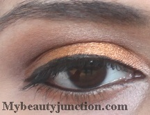 Orange eye makeup with Sleek Sunset palette