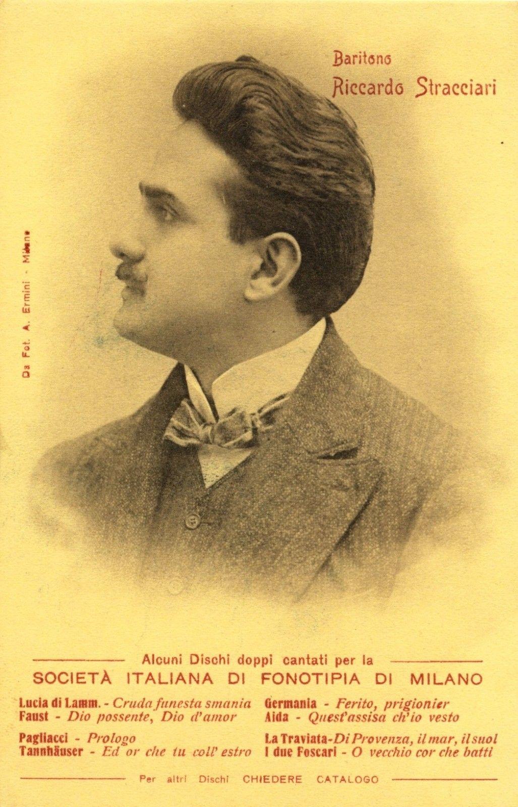 ITALIAN BARITONE RICCARDO STRACCIARI (1875-1955) FONOTIPIA RECORDS CD
