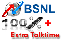 BSNL 10% & 20% Extra Talkvalue Top up Recharge Offer