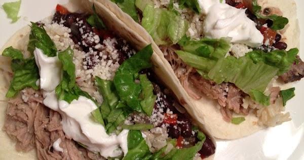 ... Mexican Pork Carnitas, Cuban Style Black Beans, and Cilantro Lime Rice
