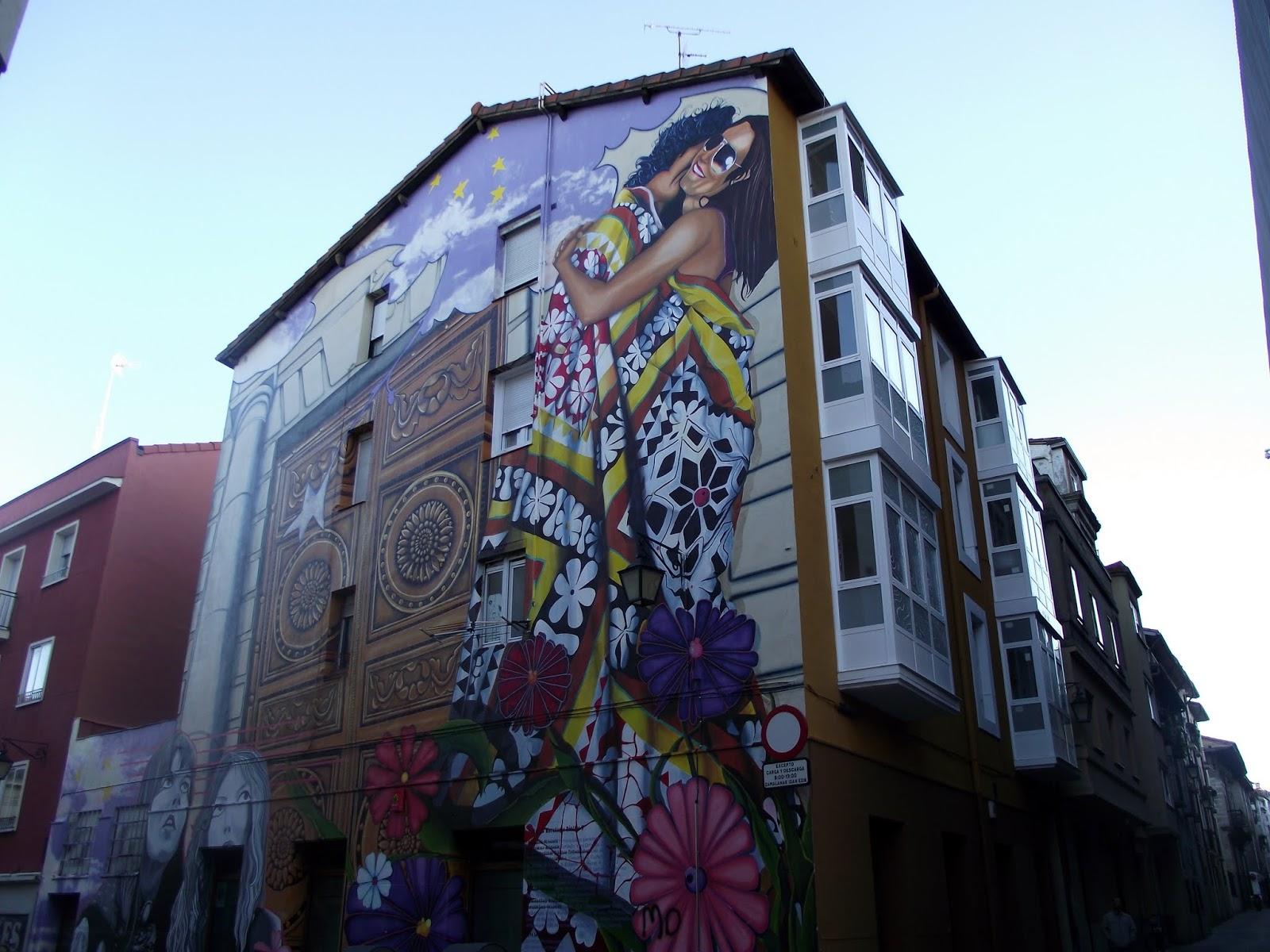 Arte en los murales de vitoria gasteiz