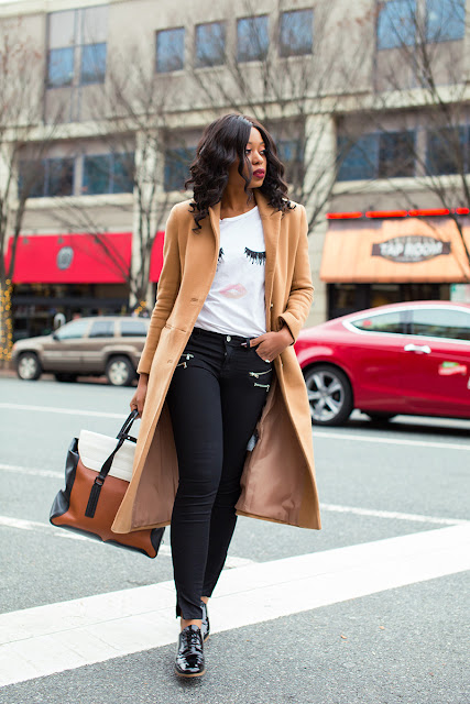 Casual outfit, 3.1 Phillip lim pashli bag, asos long coat, Michael kors oxford, www.jadore-fashion.com