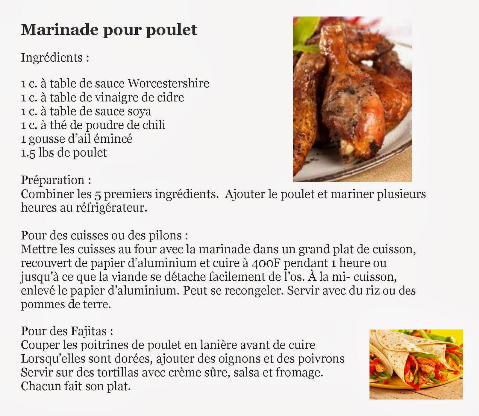 recette de poulet