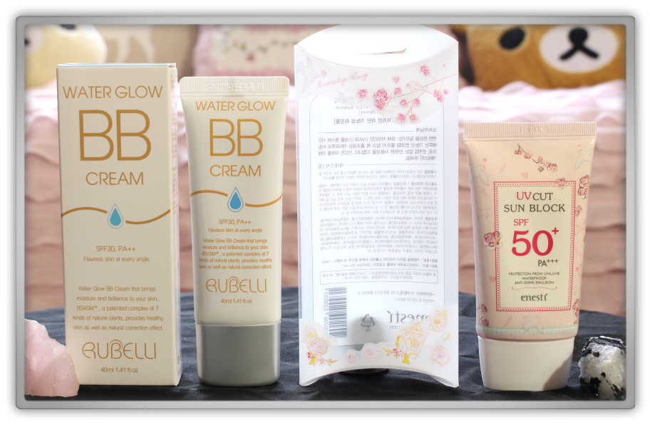 겟잇뷰티박스 by 미미박스 memebox beautybox # special #15 waterproof makeup unboxing review preview box  enesti sun block pink rubelli water glow bb cream