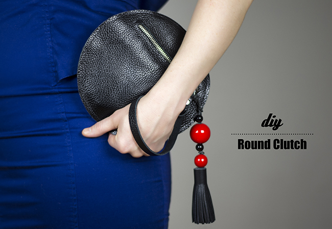 DIY Round Clutch {via www.fashionrolla.com}