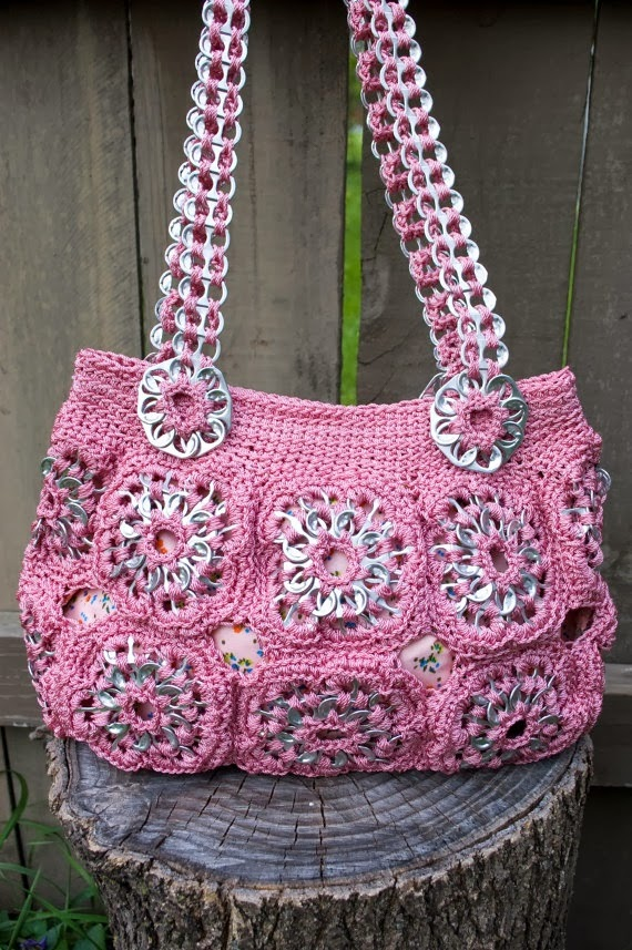 Pop Tab Art Crochet Purse by Flor7