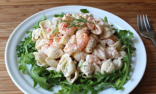 Shrimp & Pasta Shells Salad Miela Tahril