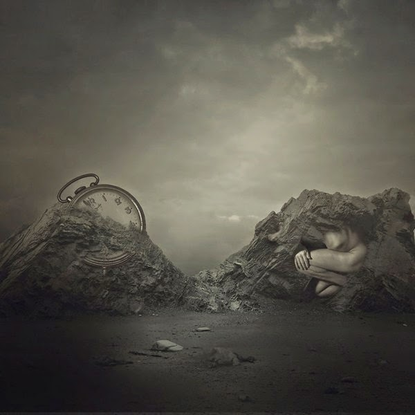 surrealistic painting by Amandine van Ray