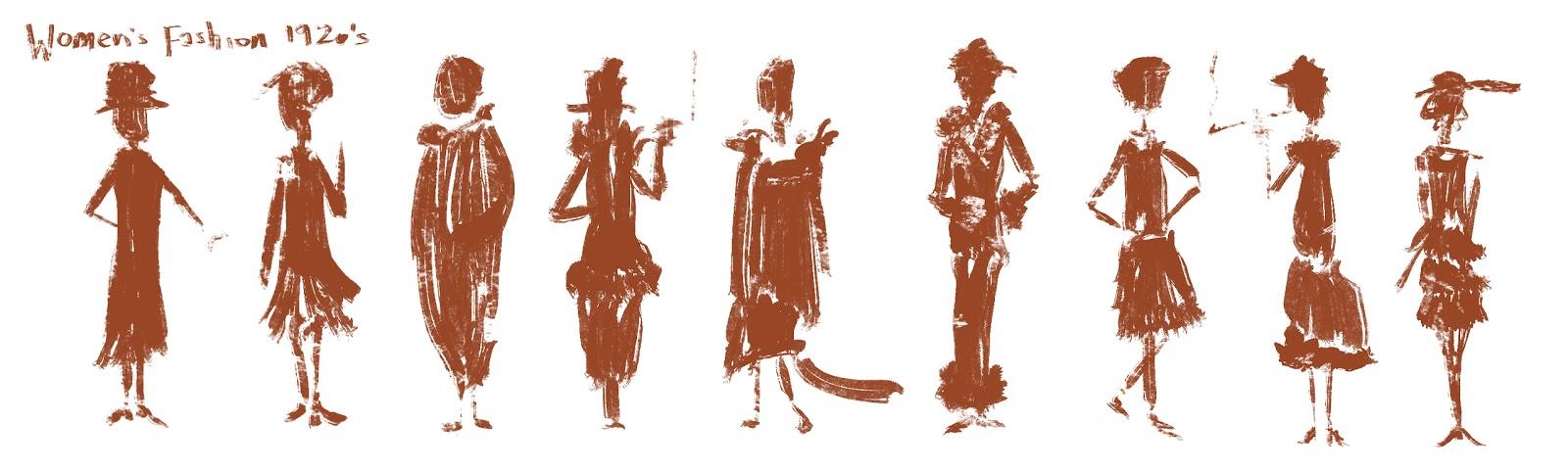 Sharackula 1920 s women s fashion silhouettes