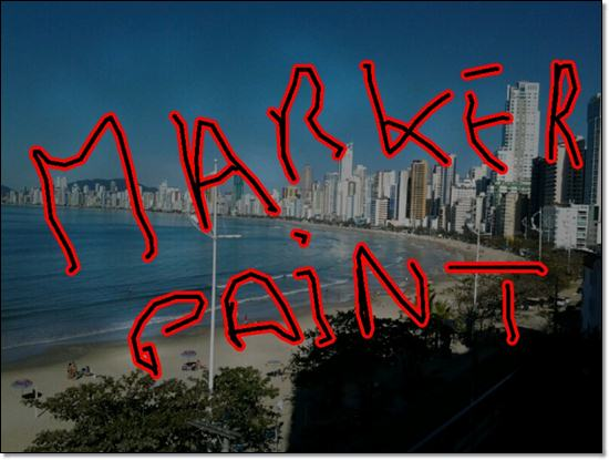 Balneario Camboriu Barra norte marker paint