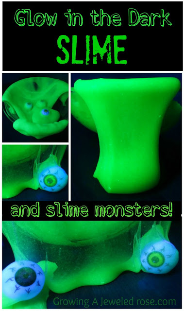 Make your own glow in he dark slime using only 3 ingredients & NO BORAX!