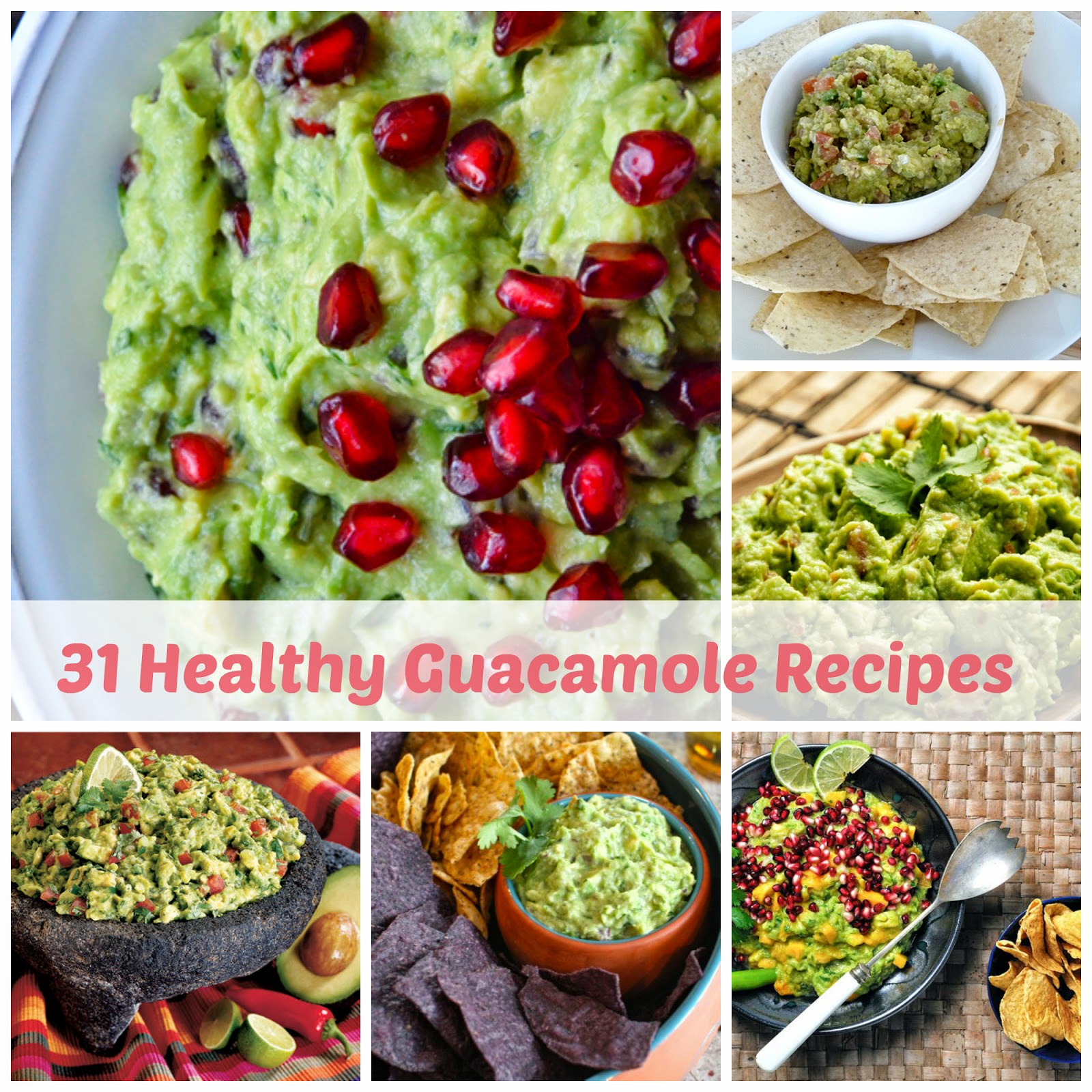 healthy guacamole recipes