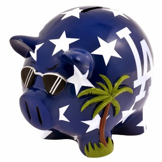 Los Angeles Dodgers MLB Piggy Bank
