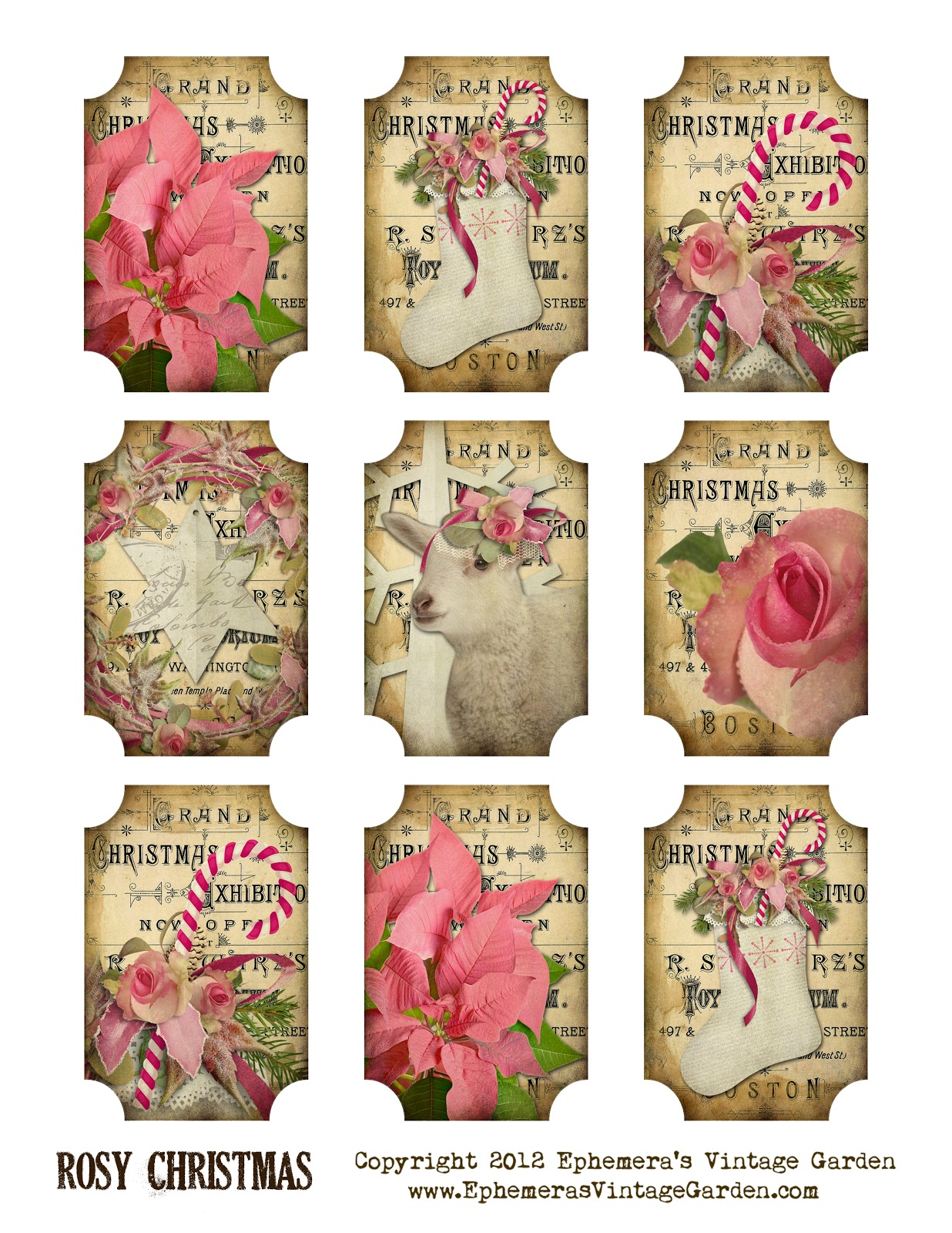 Search Results For Vintage Gift Tags Template Calendar