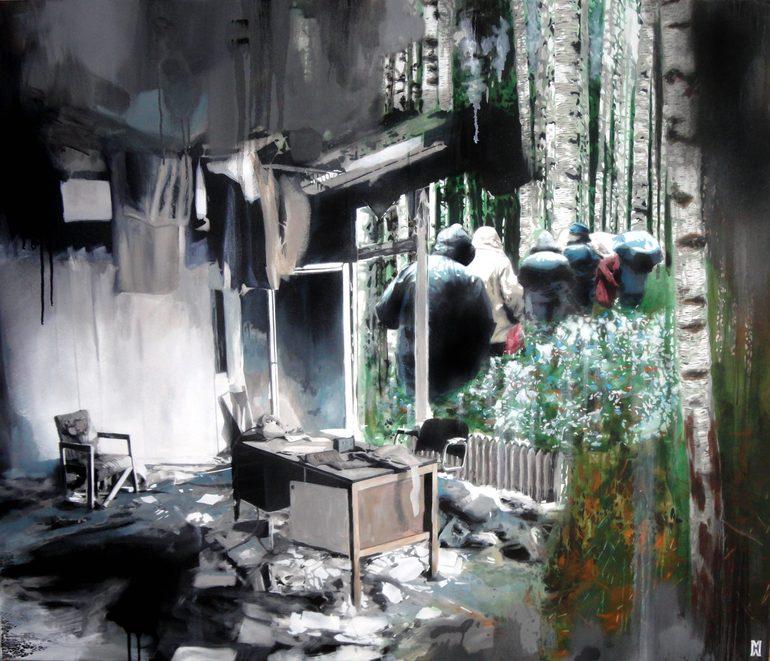 Pinturas e colagens de Michal Mráz