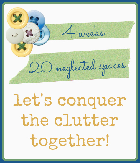 4 Weeks. 20 Neglected Spaces. Conquer the Clutter! // www.aswellplacetodwell.com