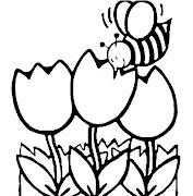 dibujitos faciles de hacer y colorear dibujos para colorear de la primavera crop