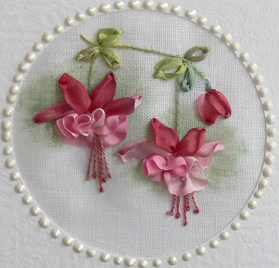 Ribbon embroidery designs for bed sheet - Val Laird Designs Journey Of A Stitcher Silk Ribbon
