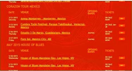 Santana Corazon Tour Musicians