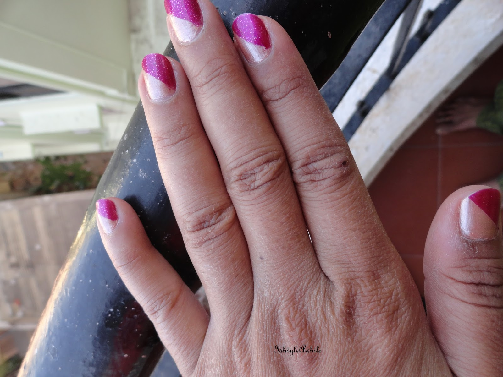Ishtyleawhile Nail Art Half And Half With Maybelline Color Show
