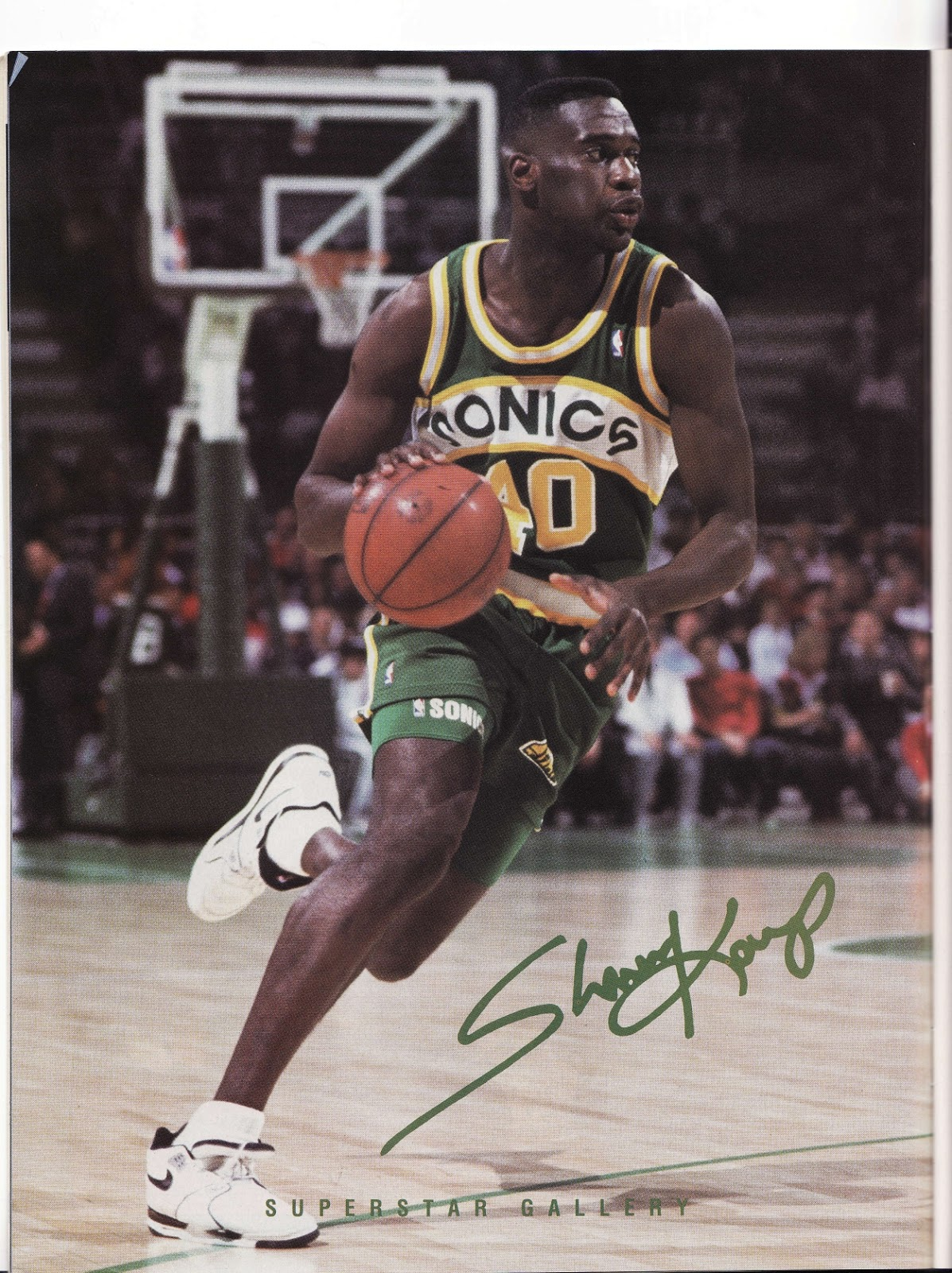 Shawn Kemp from Beckett Basketball Monthly