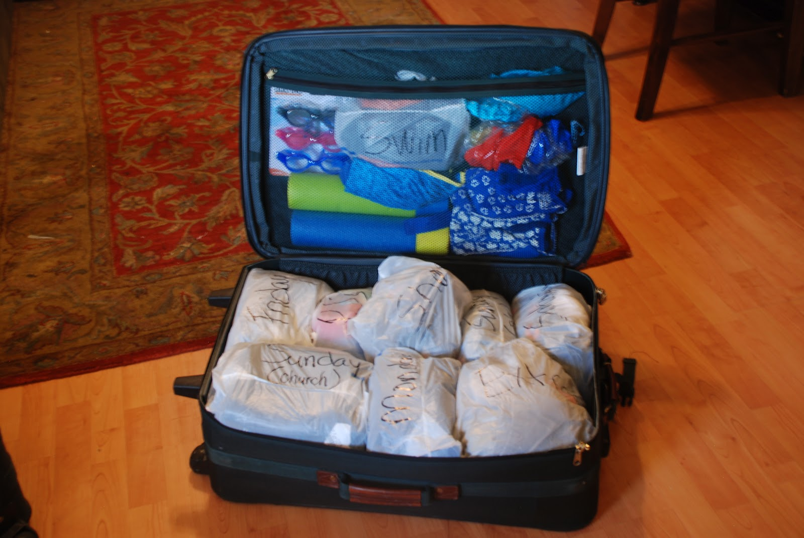 with this packing strategy there is no question about what to wear each day peter or the older kids can help get the littles ready without putting them in
