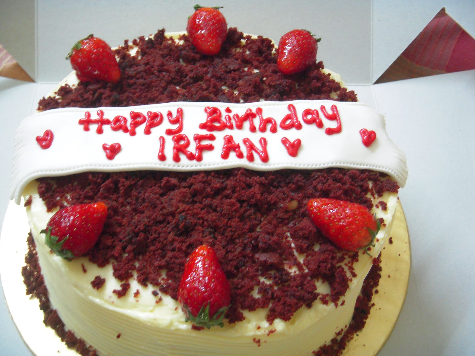 Cake Images With Name Irfan : 3N Cakes : Red Velvet for Irfan Birthday