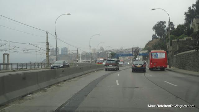 Av. España - Caminho entre Valparaíso e Viña del Mar