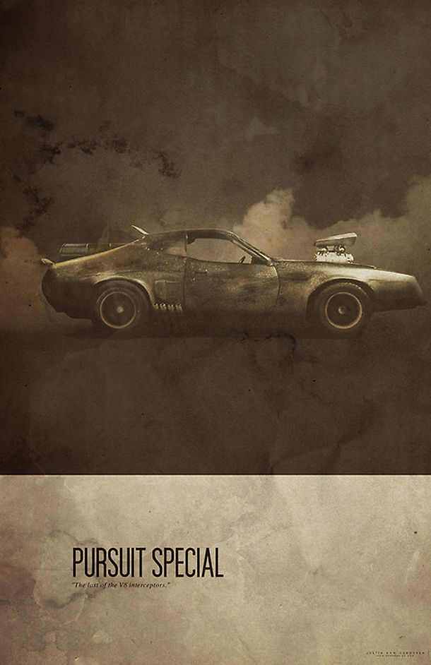 Os carros mais famosos do cinema - posters de Justin Van Genderen