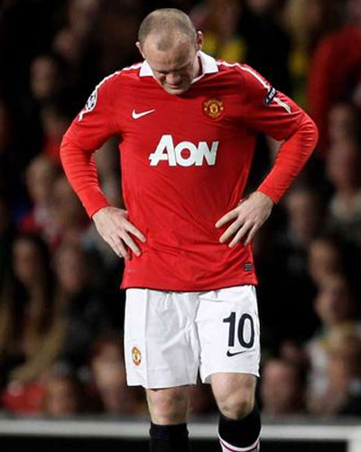 wayne rooney injury hamstring 2011-2012