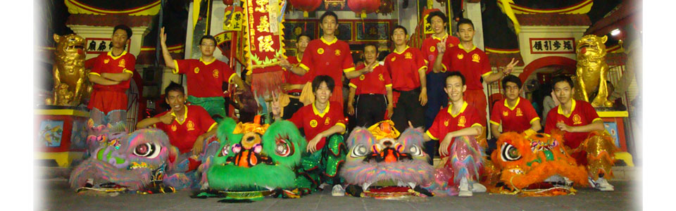 ksatria barongsai lion and dragon dance surabaya