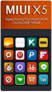 MIUI X5 HD Apex/Nova/ADW Theme apk - Screenshoot